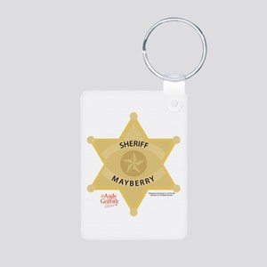 Sheriff Badge Aluminum Photo Keychain
