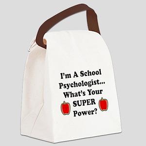 School Psychologist Canvas Lunch Bag