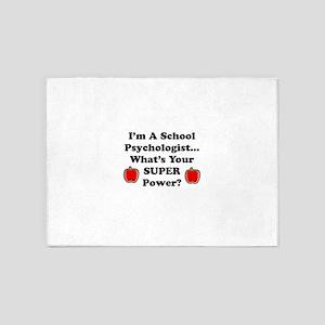 School Psychologist 5'x7'Area Rug