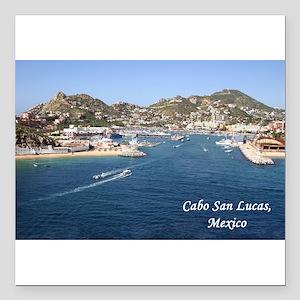 """Cabo San Lucas Square Car Magnet 3"""" x 3"""""""