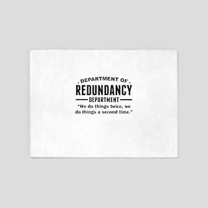 Department Of Redundancy Department 5'x7'Area Rug