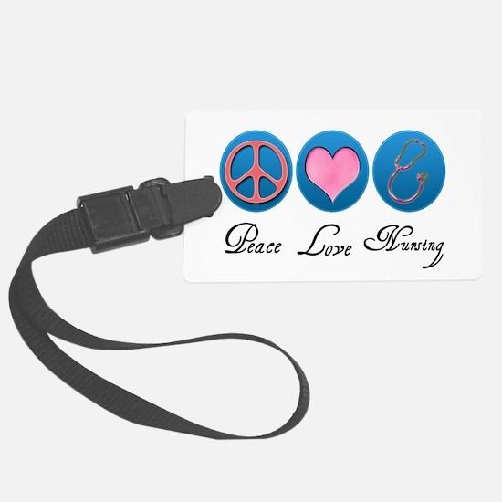 Peace, Love, Nursing Luggage Tag