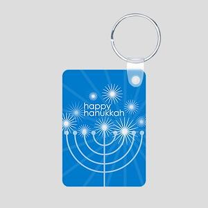 Happy Hanukkah Aluminum Photo Keychain