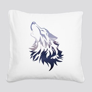 Wolf Square Canvas Pillow