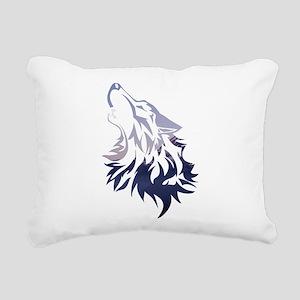 Wolf Rectangular Canvas Pillow