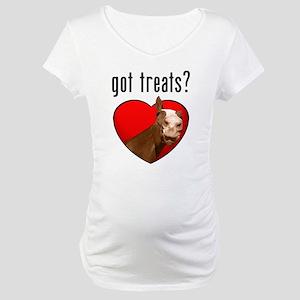 Got Treats? Cute Horse Maternity T-Shirt