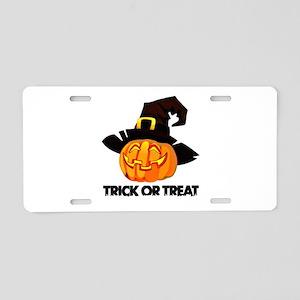 Trick Or Treat Aluminum License Plate