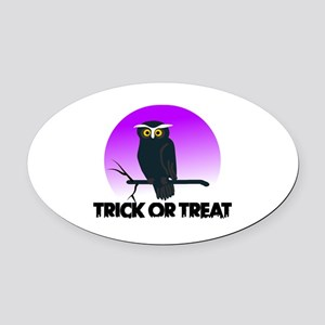 Trick Or Treat Oval Car Magnet