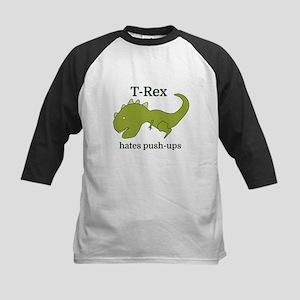 T-Rex hates push-ups Baseball Jersey