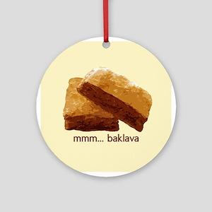 mmm... Baklava Ornament (Round)