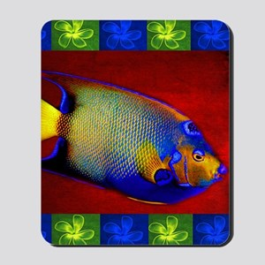 Fish Flowers Red Yellow Blue Mousepad