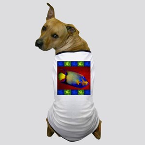 Fish Flowers Red Yellow Blue Dog T-Shirt