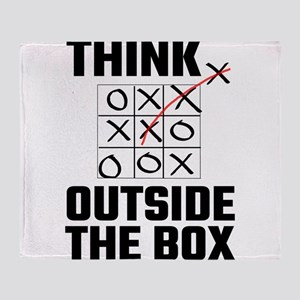 Think Outside The Box Throw Blanket