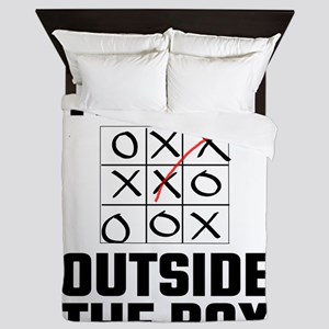 Think Outside The Box Queen Duvet