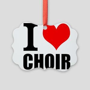I Love Choir Ornament