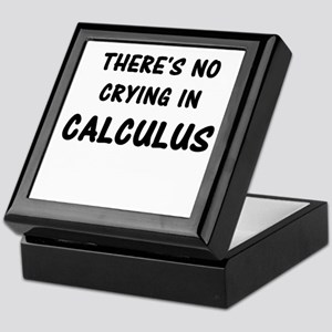 There's No Crying In Calculus Keepsake Box