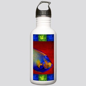 Fish Flowers Red Yello Stainless Water Bottle 1.0L