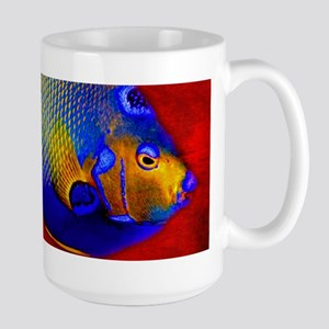 Fish Flowers Red Yellow Blue Mugs