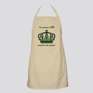 The queen is 50 long live the queen! Apron