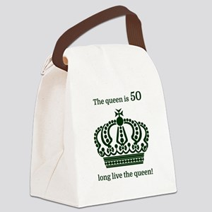 The queen is 50 long live the que Canvas Lunch Bag