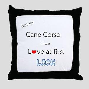 Cane Corso Lick Throw Pillow