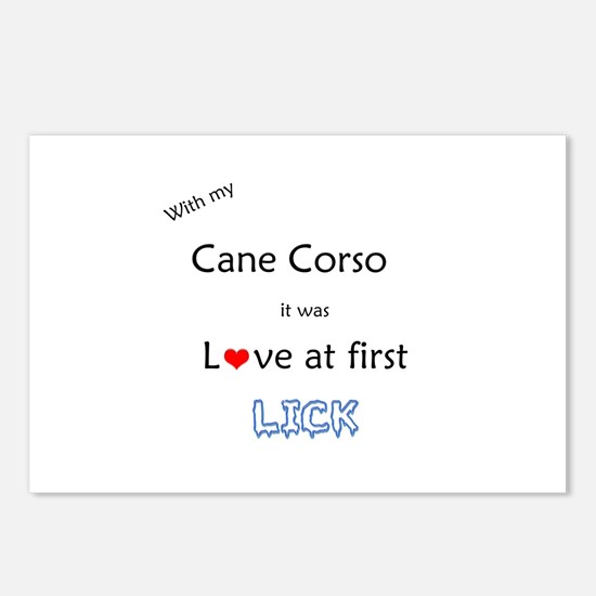 Cane Corso Lick Postcards (Package of 8)