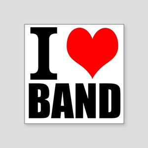 I Love Band Sticker