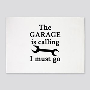 The Garage Is Calling I Must Go 5'x7'Area Rug