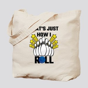 That's Just How I Roll Bowling Vintage Tote Bag
