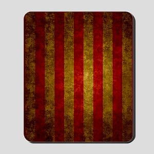 Red Gold Vertical Stripes Vintage Mousepad
