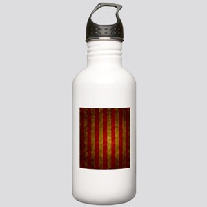 Red Gold Vertical Stri Stainless Water Bottle 1.0L