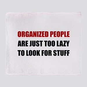 Organized People Throw Blanket