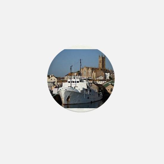 Ship, Penzance, England Mini Button