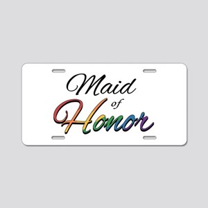 "Rainbow ""Maid of Honor"" Aluminum License Plate"