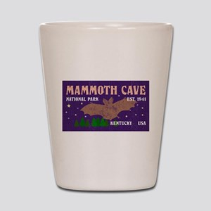 Mammoth Cave Bats Night Sky National Pa Shot Glass