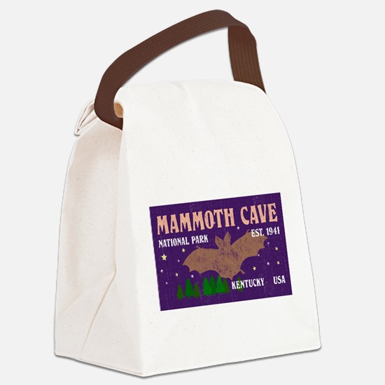 Mammoth Cave Bats Night Sky Natio Canvas Lunch Bag