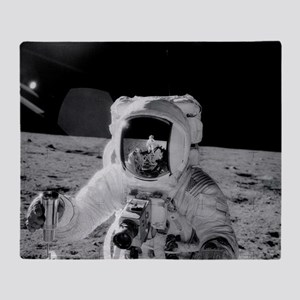 Apollo 12 Astronauts explore the Moo Throw Blanket