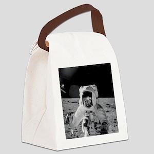 Apollo 12 Astronauts explore the  Canvas Lunch Bag