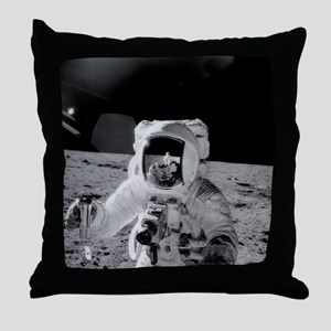 Apollo 12 Astronauts explore the Moon Throw Pillow