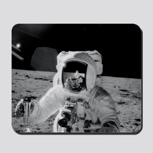 Apollo 12 Astronauts explore the Moon Mousepad