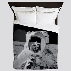 Apollo 12 Astronauts explore the Moon Queen Duvet