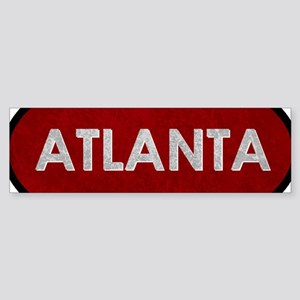 ATLANTA Red Stone Bumper Sticker