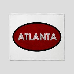 ATLANTA Red Stone Throw Blanket