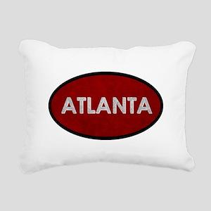 ATLANTA Red Stone Rectangular Canvas Pillow