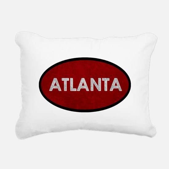 ATLANTA Red Stone Rectangular Canvas Pillow