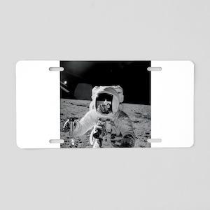 Apollo 12 Astronauts explor Aluminum License Plate