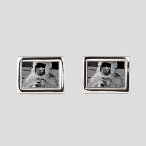Apollo 12 Astronauts explore Rectangular Cufflinks