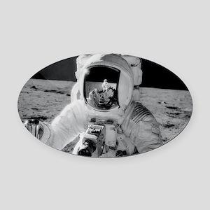 Apollo 12 Astronauts explore the M Oval Car Magnet