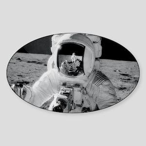 Apollo 12 Astronauts explore the Mo Sticker (Oval)