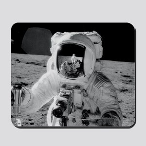 Apollo 12 Astronauts explore the Moon No Mousepad